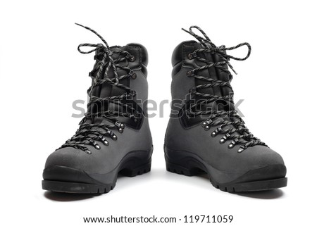 Hiking boots, isolated - stock photo