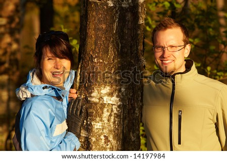 Hiking in a mountains - stock photo
