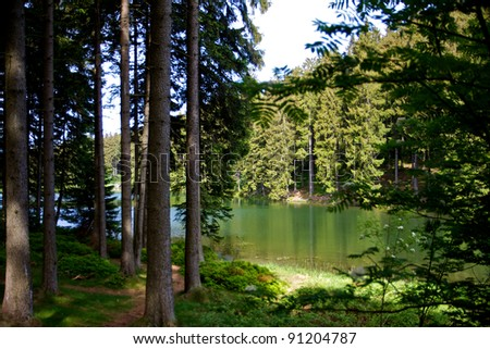 Hiking in Germany - stock photo