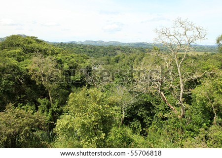 Hiking in Remote Untouched Area of Western Uganda, Africa - stock photo