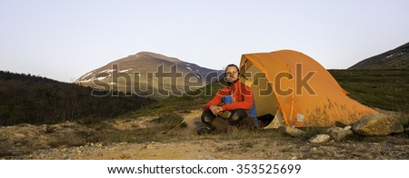 Hiking on the Kungsleden - stock photo