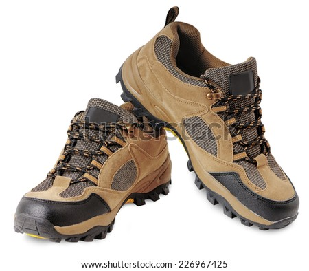 Hiking shoes for recreation and travel outdoors - stock photo