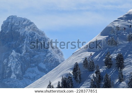 hiking with a view - stock photo