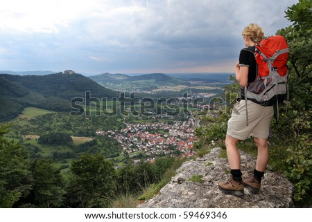 Hikking in Germany - stock photo