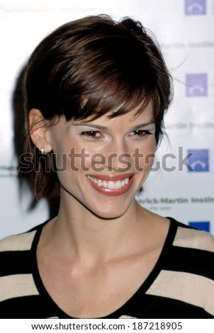 Hilary Swank at Hetrick Martin Emery Awards, NY 11/12/2001