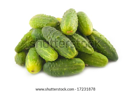 hill a heap is a lot of cucumbers on a white background