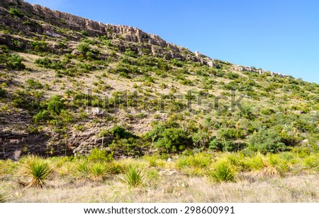 Hill and Butte at Carlsbad Caverns National Park - stock photo