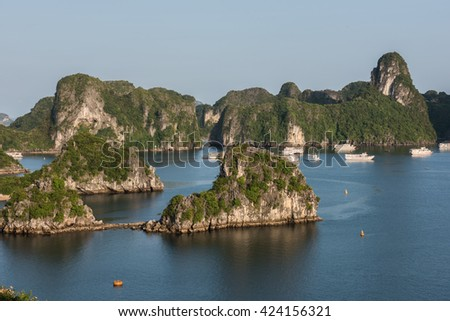 Hill Formation on Ha Long Bay