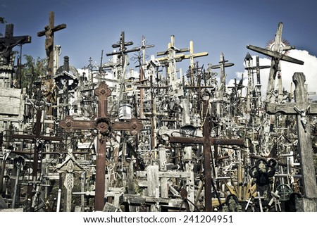 hill of crosses - stock photo