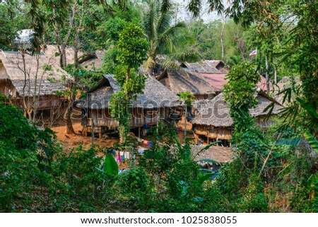 Hill Tribes, Village in Chiang Rai, Northern Thailand, Thailand, Asia