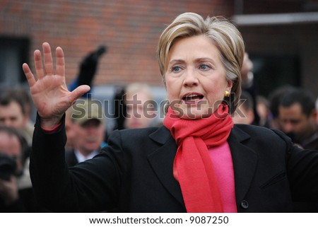 Hillary Rodham Clinton, New York Senator, wife of President Bill Clinton, Presidential Candidate, campaigning - stock photo