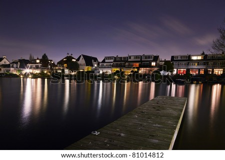 Hillegersberg at night - stock photo
