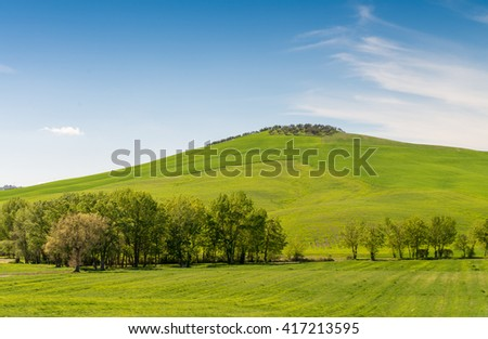 Hills of Tuscany. Beautiful spring time in Italy.