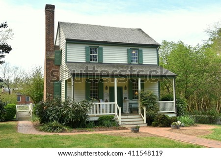 Hillsborough, North Carolina - April 20, 2016:  1790 Home of Quaker Alexander Dixon, now the town visitor center