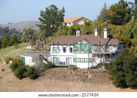 Hilltop home, Palo Alto, California - stock photo