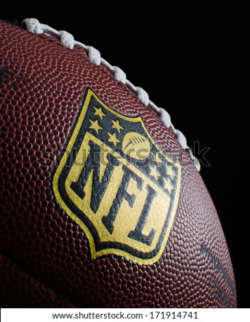 HILVERSUM, NETHERLANDS - JANUARY 18, 2014: The National Football League (NFL) is a professional American football league that constitutes one of the four major professional sports leagues in the USA.
