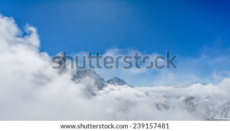 Himalaya mountains in Nepal