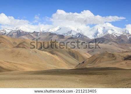 Himalaya mountains in Tibet.