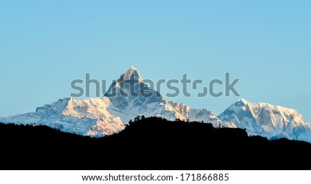 Himalaya range view from Pokhara city,Nepal