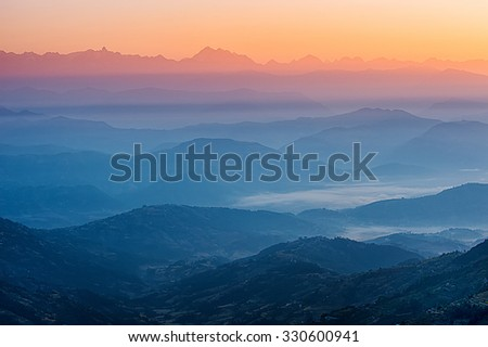 Himalaya view - stock photo