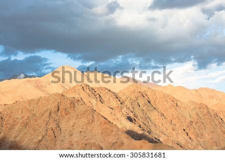 Himalayan landscape in Leh Ladakh,India - stock photo