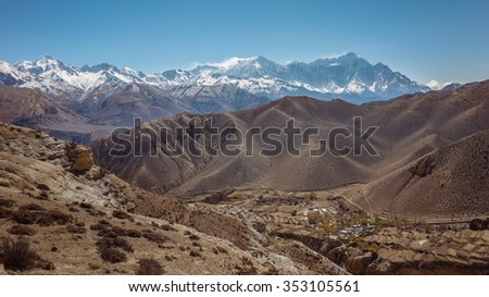 Himalayan Landscape in Nepal - stock photo