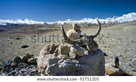 Himalayan Mountain Range - stock photo