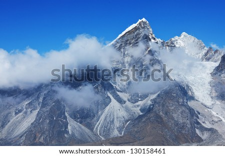 Himalayas - stock photo