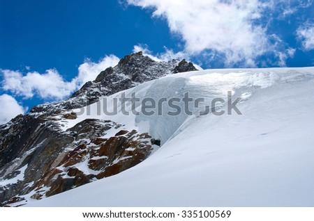 Himalayas. (Cho La pass) Sagarmatha National Park. Nepal - stock photo