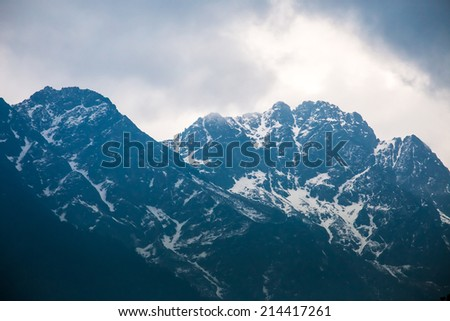 Himalayas Mountain in Sikkim, India - stock photo