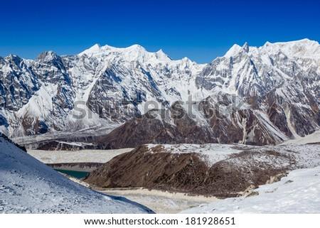 Himalayas mountain landscape  - stock photo