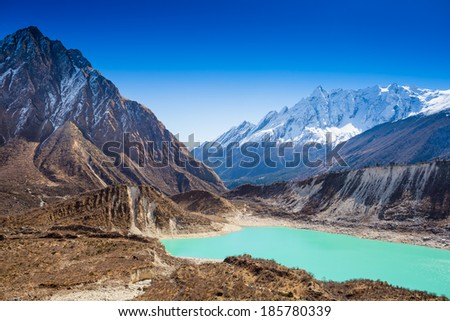 Himalayas mountain landscape - stock photo