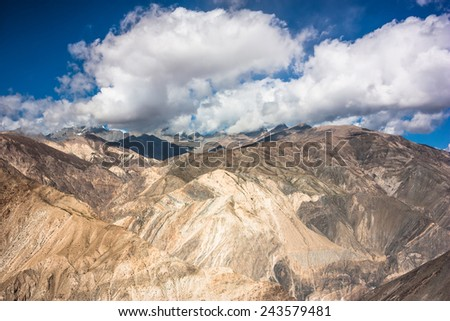 Himalayas mountain landscape. Jammu and Kashmir State, North India