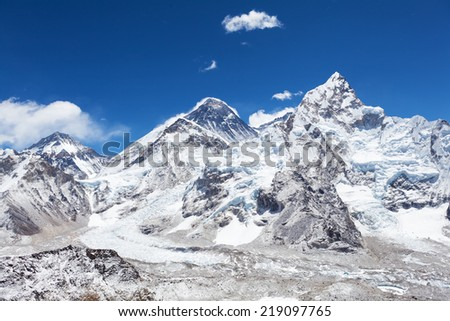 Himalayas mountains, beautiful view on Mount Everest
