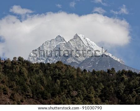 Himalayas peaks - Nepal - stock photo