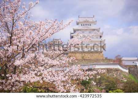 Himeji Castle in Hyogo Prefecture, Kansai Japan. Himeji Castle was recognised by UNESCO to the World Heritage - stock photo