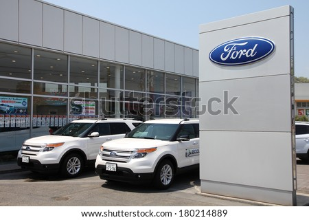 Ford motor company stock photos images pictures for Ford motor company dealerships