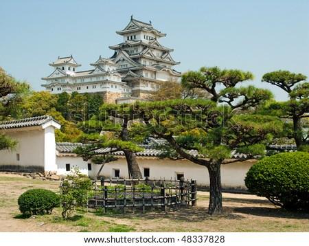 Himeji Japanese Castle view - stock photo