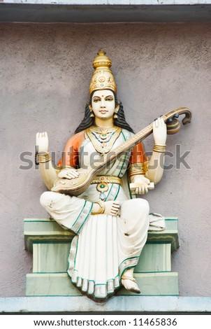 hindu deity statue - stock photo