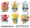 Hindu ganesha God Named Maha Ganapati at temple in thailand - stock photo