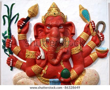 Hindu God Ganesh from temple,Thailand - stock photo