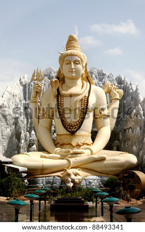 Hindu god Lord Shiva,Bangalore,India - stock photo