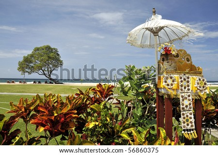Hindu God's Offering in Bali - stock photo