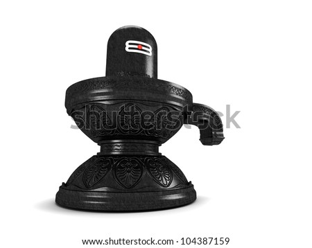 Hindu God Siva Linga - stock photo