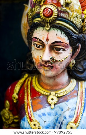 Hindu Goddess Durga - stock photo