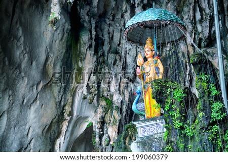 Hindu godess  in the Batu Caves, Kuala Lumpur - Malaysia  - stock photo