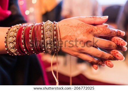Hindu Indian wedding ceremony - stock photo