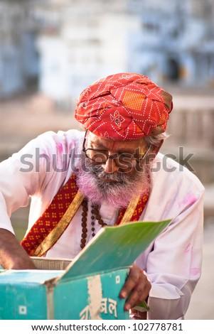 hindu man - stock photo