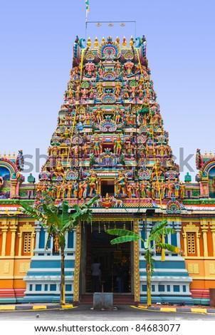 Hindu temple at Kuala Lumpur Malaysia - religion symbol - stock photo