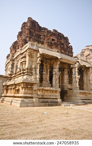 hindu temple , Hampi, India  - stock photo